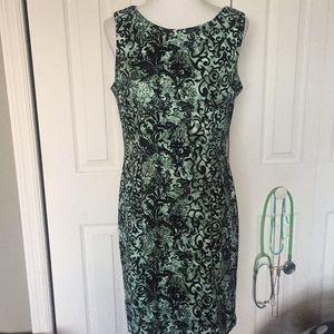 black & jade dress